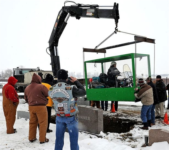 Ohio man's wish fulfilled as he is buried on motorcycle