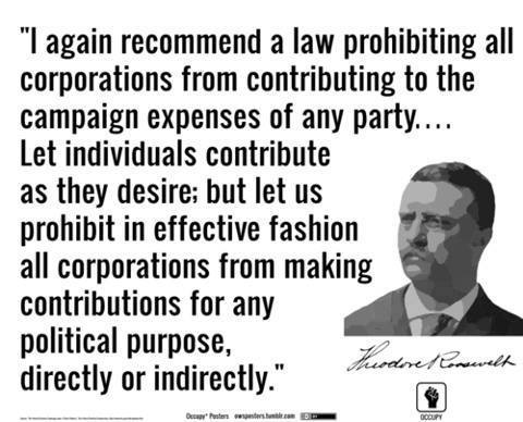Theodore Roosevelt on corporate money in politics