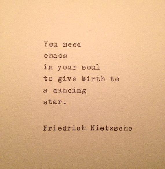 Chaos in the soul...