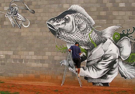 Street art by Claudio Ethos