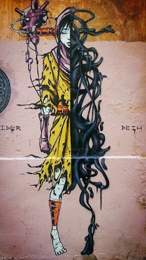 Urban art by Spanish artist Deih