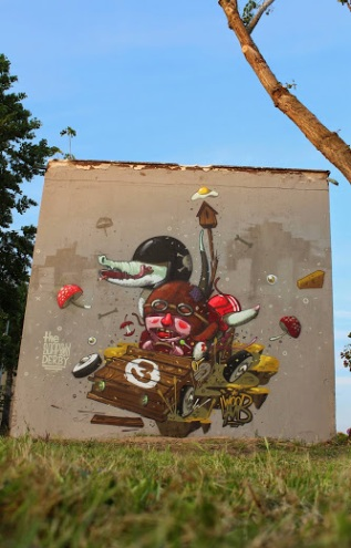 """""""the+SOAPBOX+DERBY""""+Street+art+in+Milan,+Italy,+by+Mr.Woodland"""