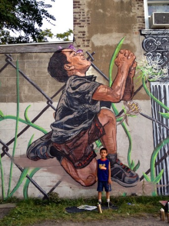 childhood ChristopherStreet art in Rochester, NY, USA, by artist LNY Lunar New Year (for Wall Therapy)