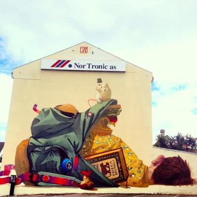 """First+Day+Of+School""+Street+art+in+Stavanger,+Norway,+by+Polish+artists+Etam+Cru+(for+Nuart+Street+Art+Festival).+Photo+by+Toris64"
