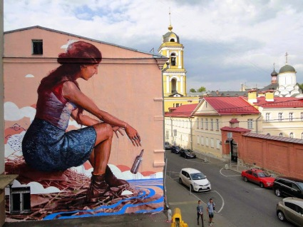 """""""The+Messenger""""+Street+art+in+Moscow,+Russia,+by+Australian+artist+Fintan+Magee+(for+the+Most+Street+Art+Festival).+Photo+by+Fintan+Magee"""
