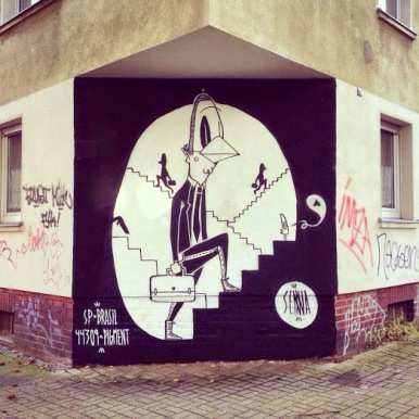 Street art in Dortmund, Germany, by Brazilian artist Alex Senna.