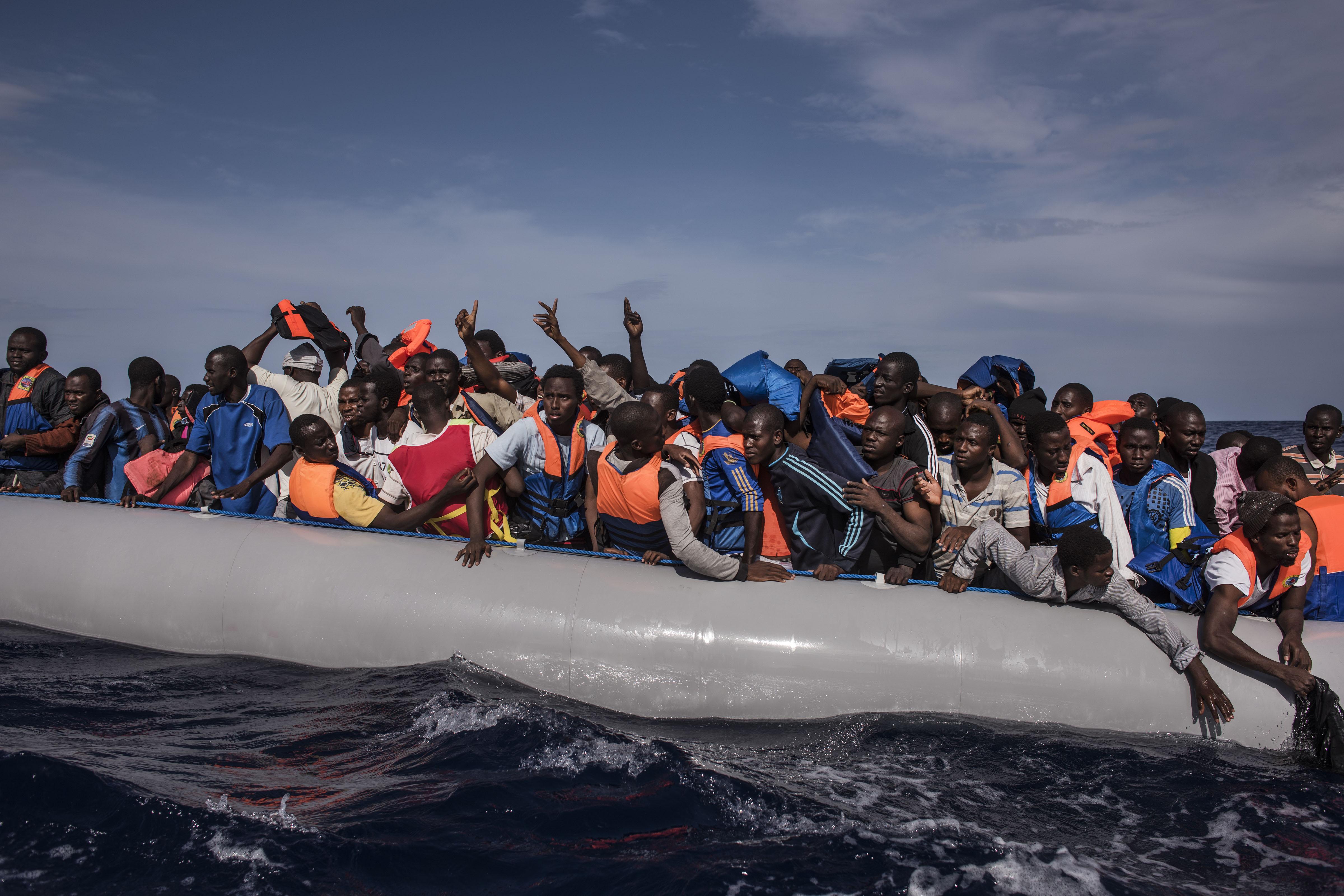 Asielzoekers op zee