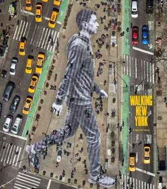 Street art in NYC, USA, by French artist JR