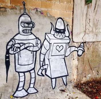 Street art in Puerto Rico by artist SHITTYROBOTS