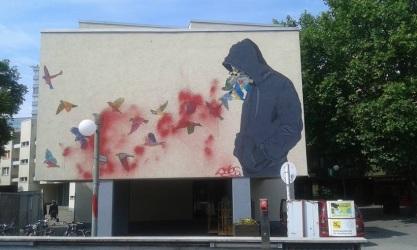 Street art in Berlin (Kreuzberg), Germany, by artist Don John. Photo by AnonymSAFAB FB