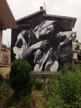 Street art in Italy by artist Luis Gomez de Teran. Photo via SAUS