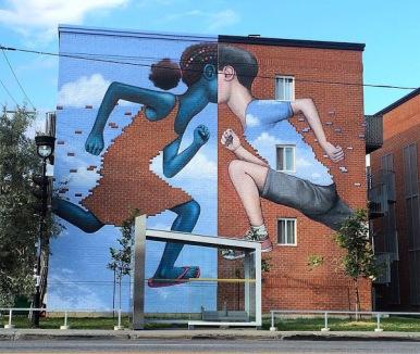 Street art in Montreal, Canada, by French artist Julien Malland aka Seth GlobePainter