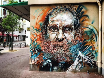Street art in Paris (avenue de choisy), France, by French artist C215