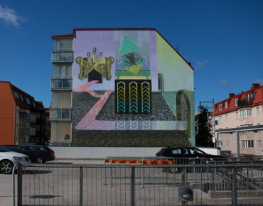 "Street art in Borås, Sweden, by artist Curiot (for ""No Limit"" festival). Photo by Jaime Rojo (bsa)"