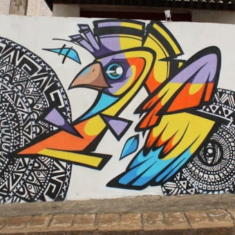 Street art in Brazil by artist Fernando Garroux -Garu-. Photo by Fernando Garroux -Garu-