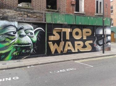 Street art in Dublin, Francis street, Ireland. Photo by tomo840