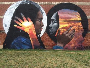 Street art in Newark, New Jersey, USA, by artist Lunar New Year aka LNY.