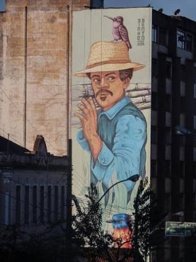 Street art in Ponte Nova - MG - Brazil, by artist Dinho Bento