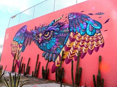 -TECOLOTL-Street art in Querétaro, Mexico, by artist Farid Rueda
