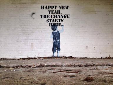 XX Street art in Dawlish, UK, by artist Nme