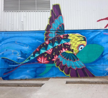 Street art in Mexico by artist SENKOE with