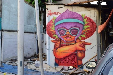 Street art in Thailand by artist Jecks. Photo by ThailandSA