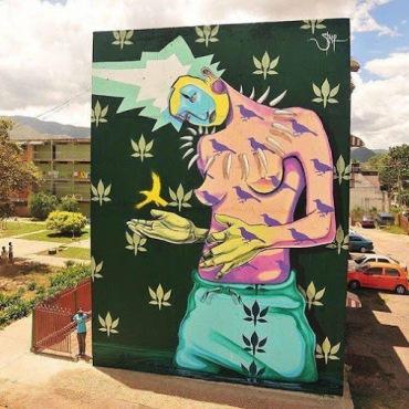 Street art in Venezuela by artist Steep. Photo by steepart