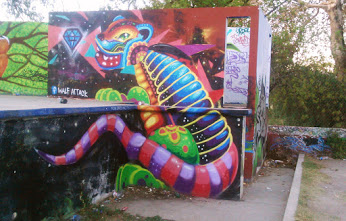 Street art in Mexico by artist Walf Attack