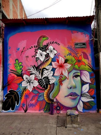 Street art in Mexico by Ako Weareuz MAjo Barajas. Photo by SAChilango