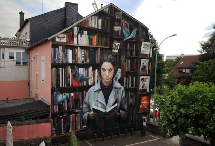 -Curiosity feeds Imagination-#streetart in Esch-sur-Alzette (Urban Art Esch), Luxembourg, by artist Mantra (Illustrated from a picture of Marta Bevacqua Photography)