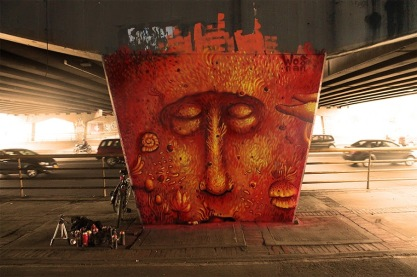 #streetart in Bogotá Colombia by artist WOSNAN