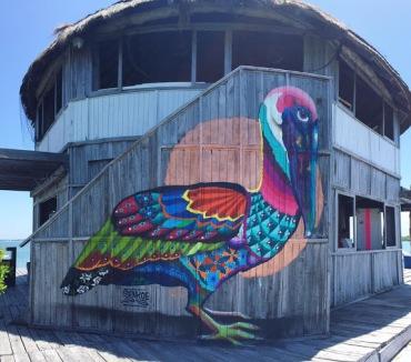 #streetart in Cancún, Quintana Roo (Marina Barracuda), Mexico, by artist SENKOE
