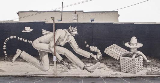 #streetart in Richmond, USA, by artist Waone