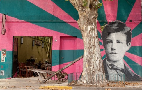 -Arthur Rimbaud-#streetart in Palermo, Buenos Aires, Argentina, by artist Lapiz