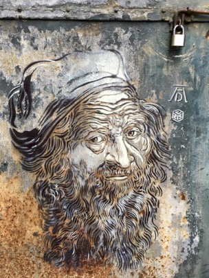 _Based on Albrecht Du_rer_ #streetart in Paris (Porte d'Ivry), France, by French artist C215