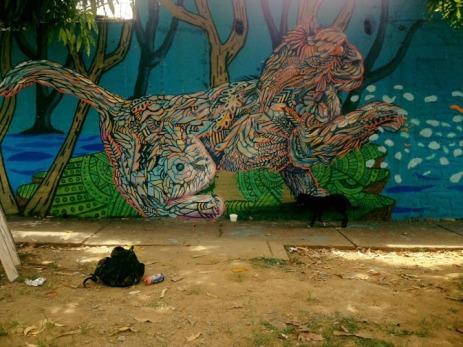 -El gato del manglar-#cat #streetart in Cali (Valle del Cauca), Colombia, by artist MundoLetop