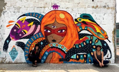 #streetart in Bogotá, Colombia, by artist Vera. Photo by Vera Vera Primavera..-