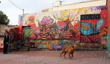 #streetart in Bogotá, Colombia, by artists Malegría aand Nomada Urbano