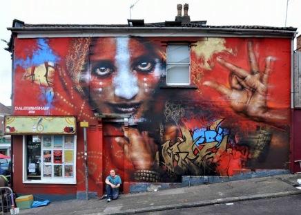 #streetart in Bristol, UK, by artist Dale Grimshaw. Photo by Monoprixx & Bub