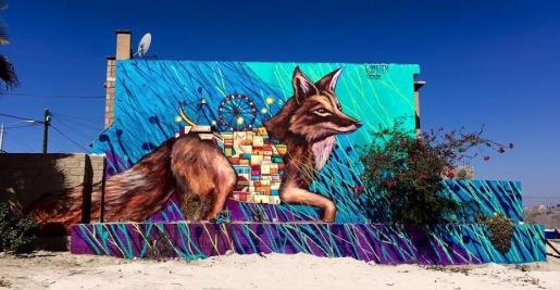 #streetart in Cañadas del Florido, Tijuana , Mexico, by artist Libre HEM