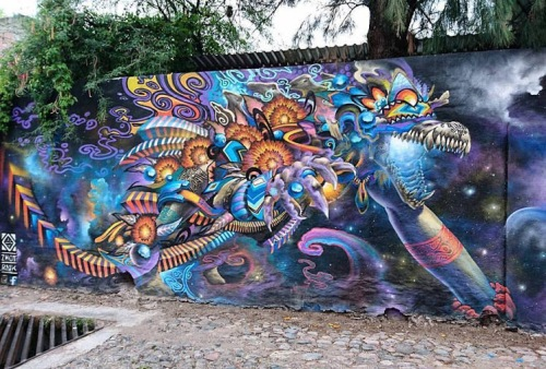 #streetart in Mexico by artist zhot_rnk. Photo by Gilberto Ruiz