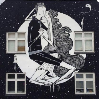#streetart in Naestved, Denmark, by Brazilian artist Alex Senna