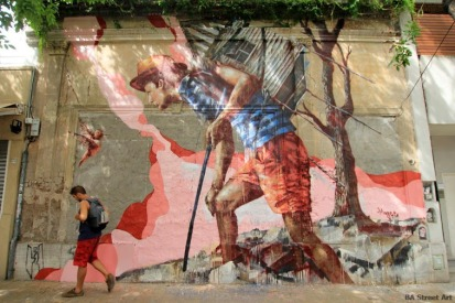 #streetart in Palermo, Buenos Aires, Argentina, by artist Fintan Magee. Photo by BA Street Art