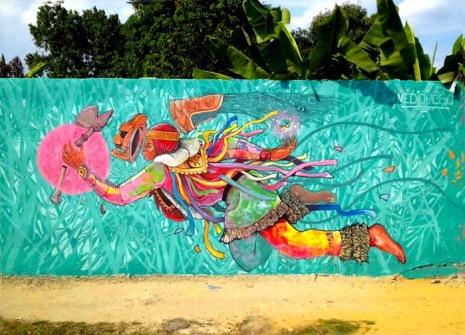 -Translación- #streetart in the Dominican Republic by artist MEDI PESO