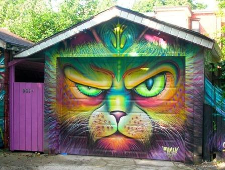 #streetart in Toronto, Canada, by artist Shalak Attack
