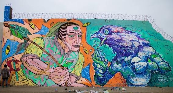 cada-cultura-con-sus-productos-streetart-in-lima-colegio-ricardo-bentin-rimac-peru-by-artist-3yone