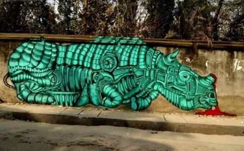 rhino-streetart-in-assam-india-by-artist-yantr-these-majestic-creatures-are-killed-for-their-horns